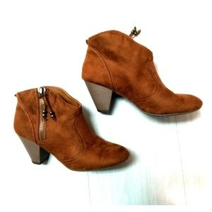 Madden girl ankle boots brown sz 7.5